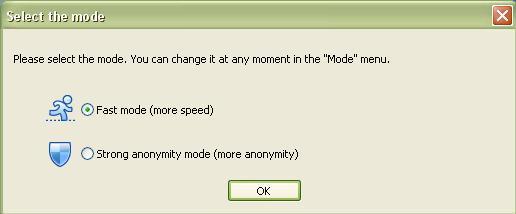 Mode selection