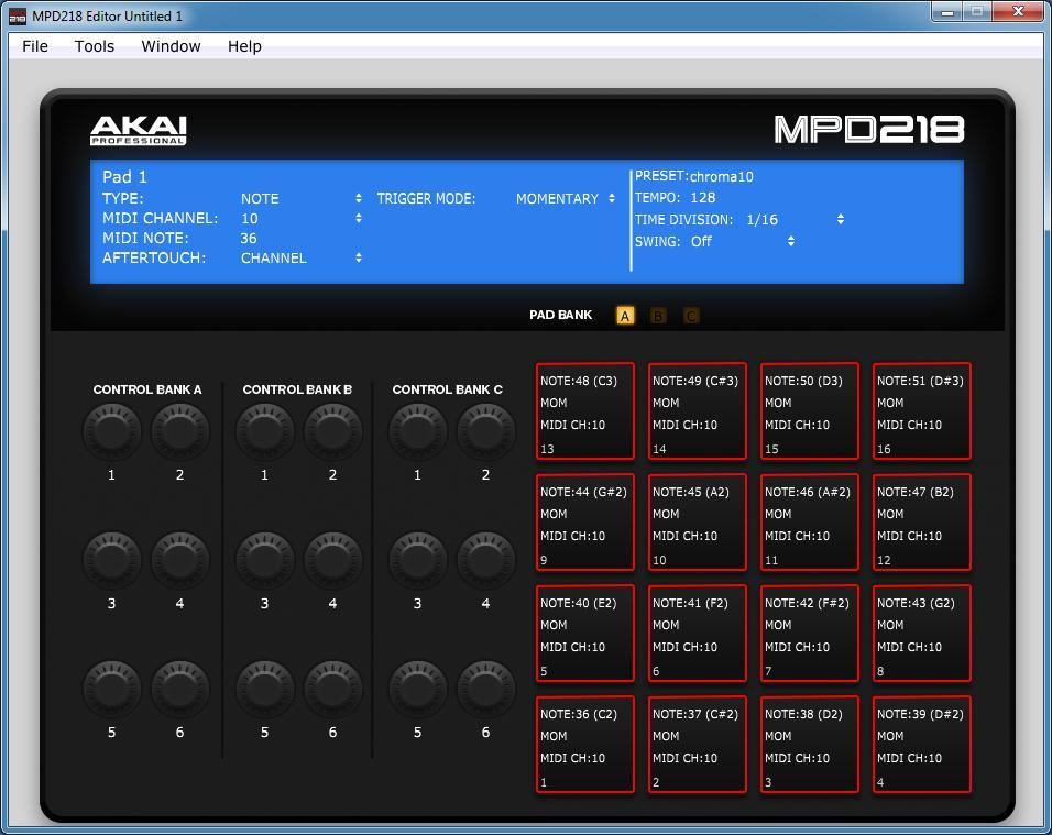 MPD218 Editor Download (MPD218 Editor exe)