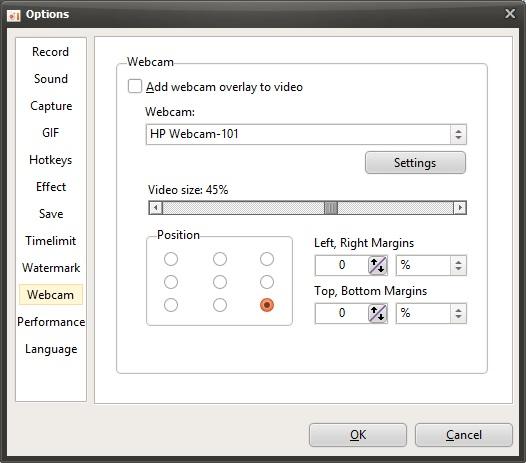 Webcam Options