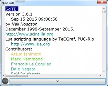 SciTE Text Editor Download - SciTE is a text and source code editor