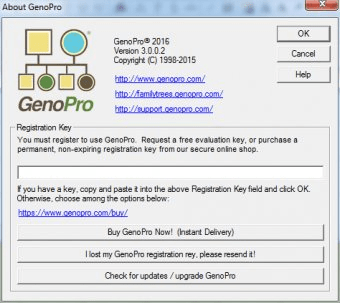 genopro register key