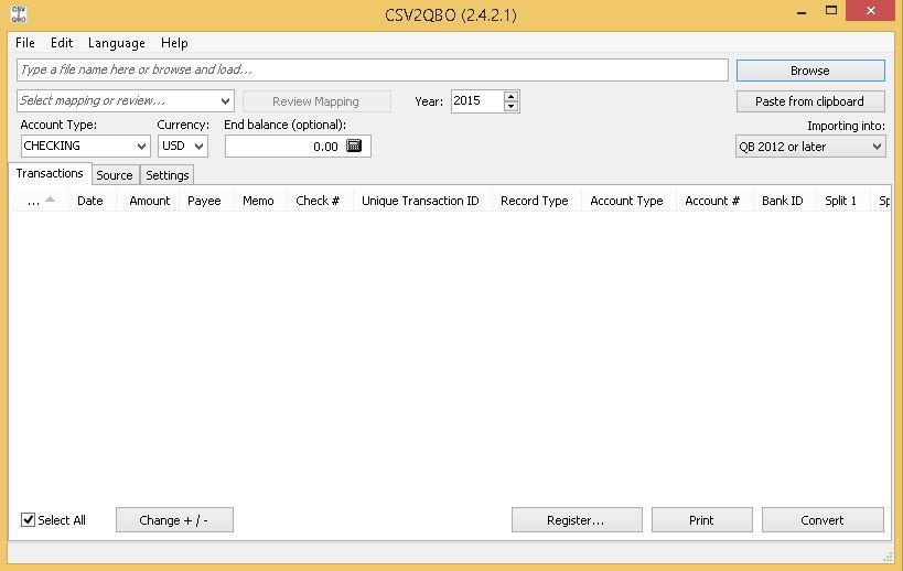 CSV2QBO - Software Informer  Convert CSV, TXT, and Excel