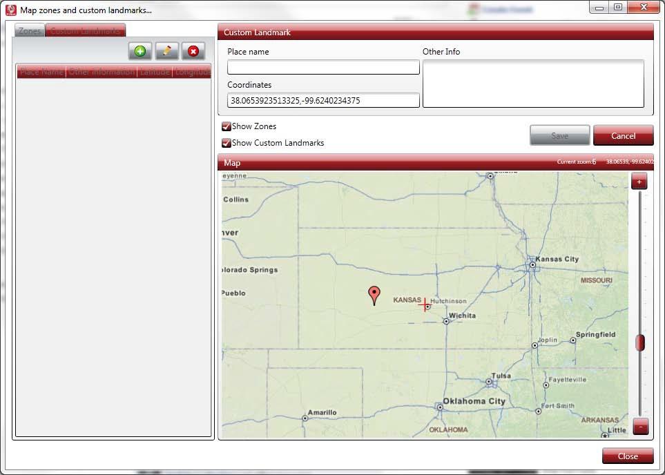 Map Zones and Custom Landmarks