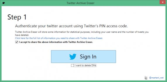 Twitter Archive Eraser 5 1 Download (Free) - Twitter Archive