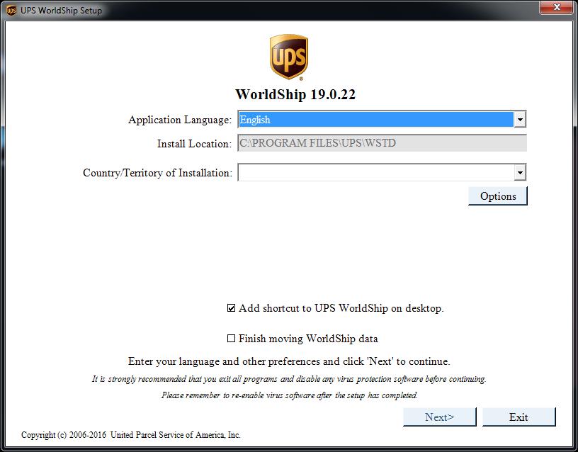 UPS WorldShip 20 0 Download - WorldShipTD exe