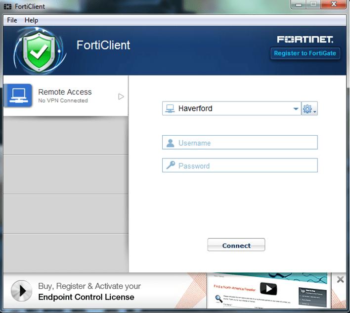 Remote access menu