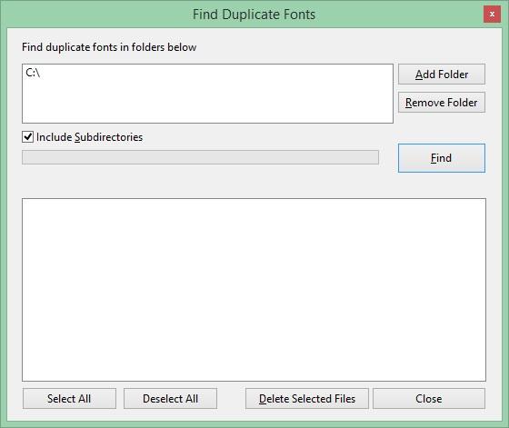 Find Duplicate Fonts