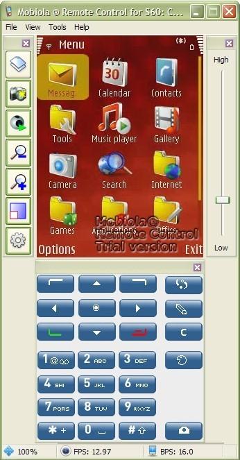 Phone Menu Screen