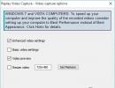 Video Capture Options