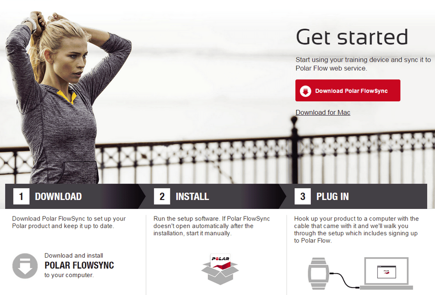 Polar FlowSync Download - Application that helps you set up