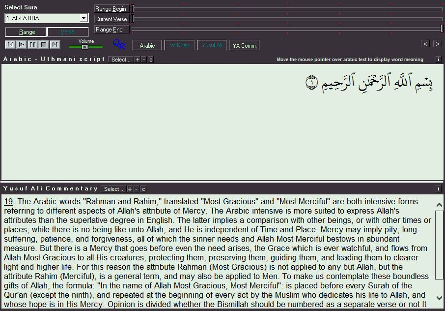 Arabic text and commentary