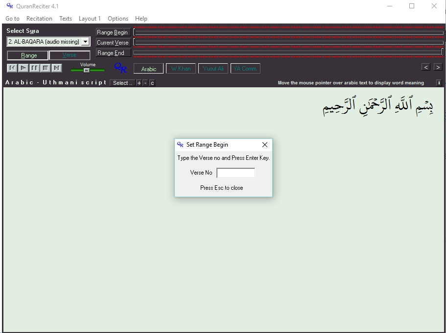 quran reciter 4.0 beta free download