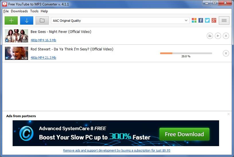 free youtube to mp3 converter v 4.1 0