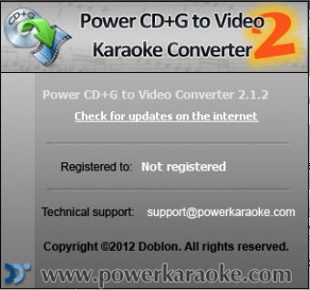 Power CD+G to Video Karaoke Converter Download - This tool