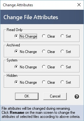 Change file attributes