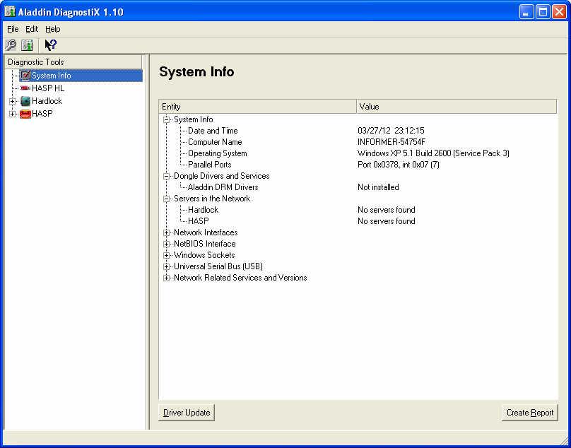 Aladdin DiagnostiX Download - It collects relevant
