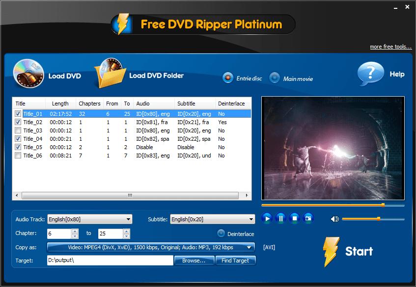 free dvd ripper platinum 2.8 9