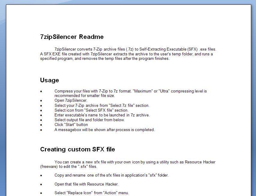 7zipSilencer Download (7zipSilencer exe)