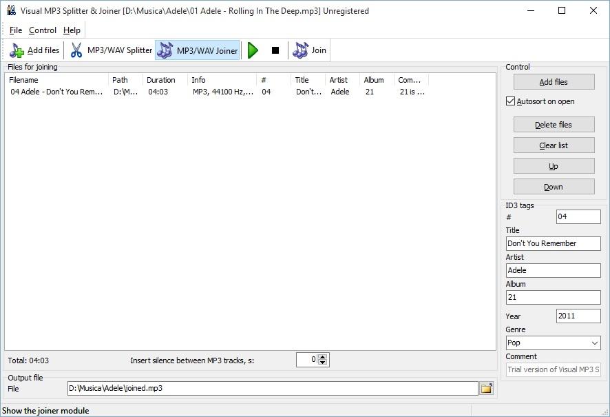 Main Screen Joiner module