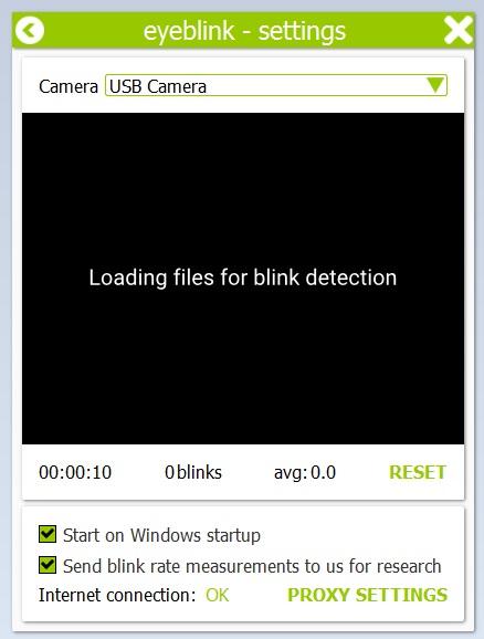 Starting Blink Detection