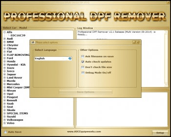 Professional DPF Remover 3 0 Download - Professional DPF Remover exe