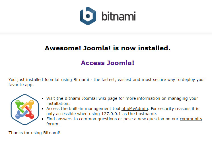BitNami Joomla Stack Download - The Bitnami Joomla! Stack