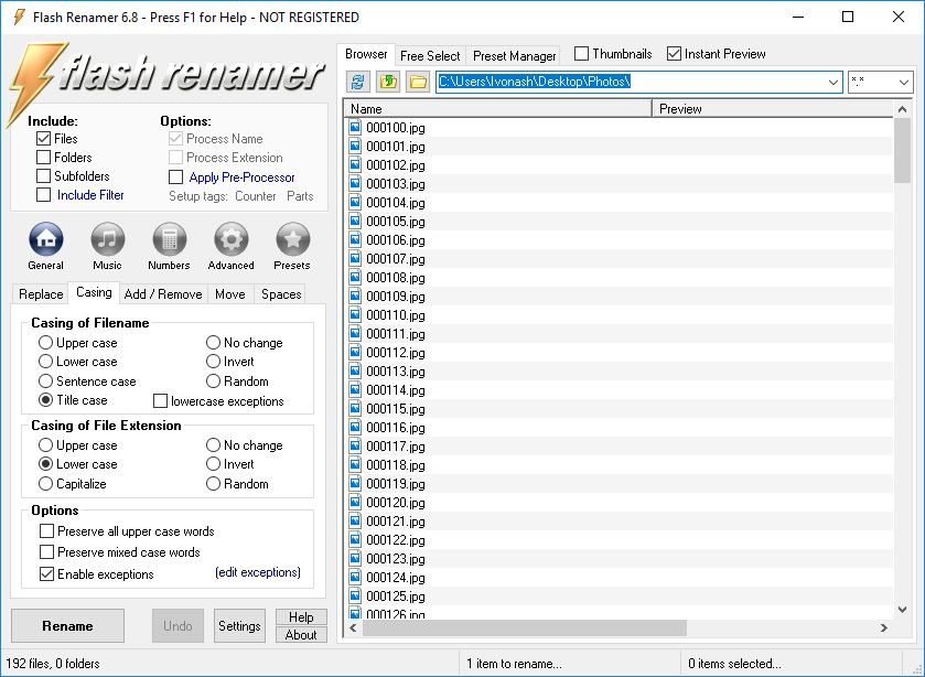 Flash renamer download pc