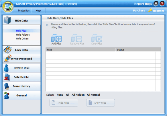GiliSoft Privacy Protector 3.6 Download (Free trial) - WFK.exe