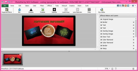 PhotoPad Photo Editing Software 2 81 Download (Free trial)