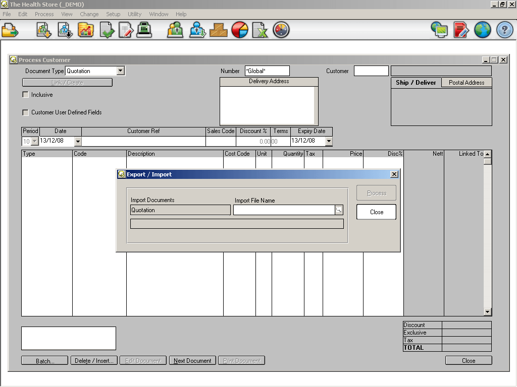 Importing Documents