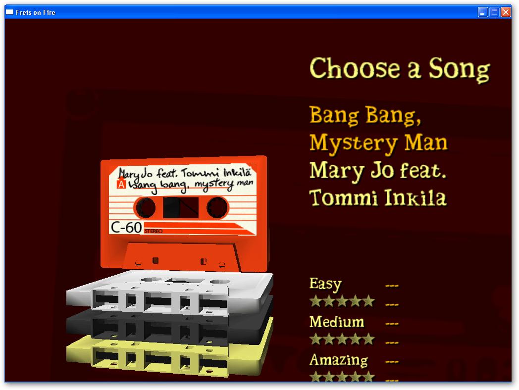 Choosing a song