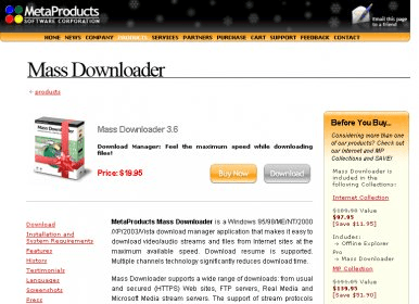 MetaProducts Mass Downloader 3 6 Download (Free trial) - massdown exe