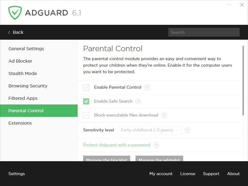Parental Control Settings