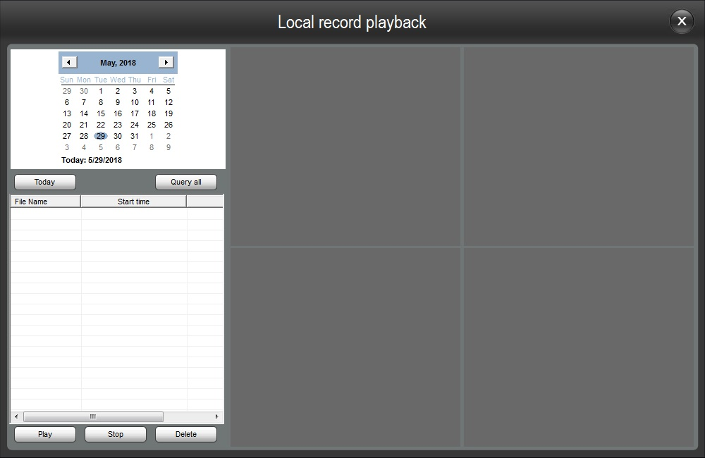 Local Record Playback