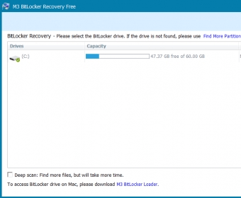 M3 Bitlocker Recovery Free Software Informer: version 5 5 information