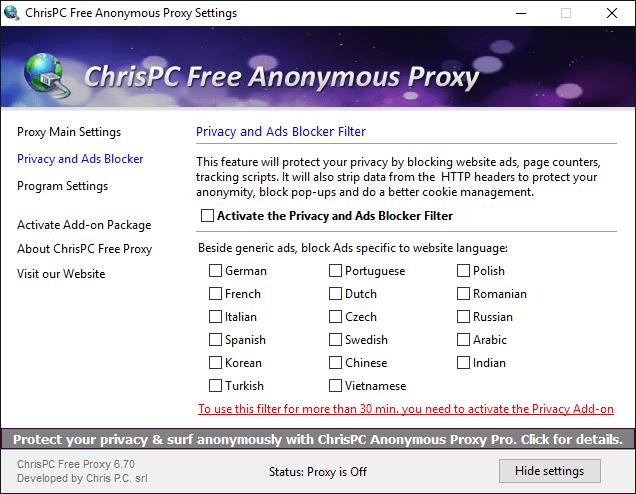 ChrisPC Free Anonymous Proxy 6 2 Download (Free) - ChrisPC Proxy exe