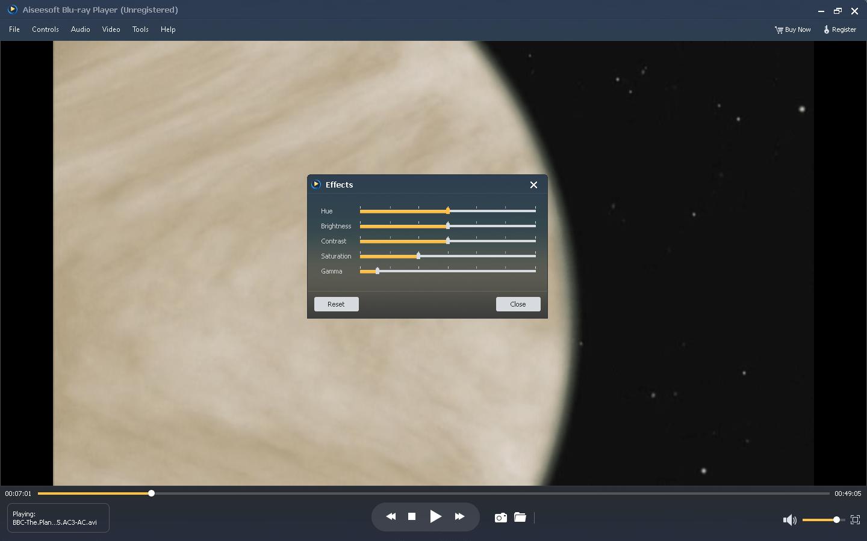 Effects tab