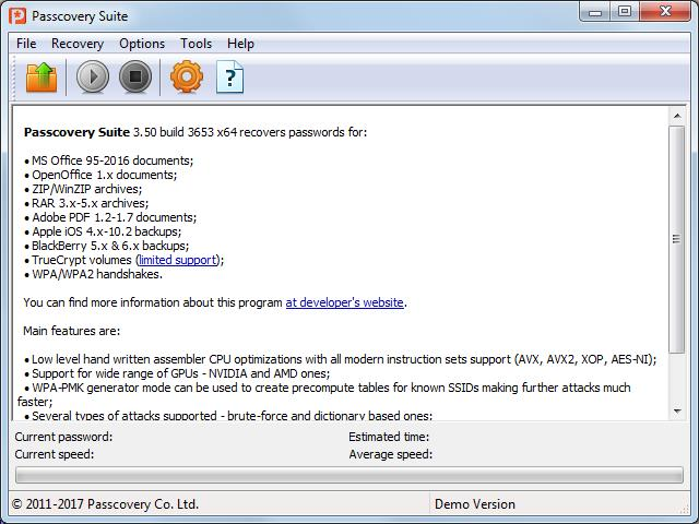 Passcovery Suite 3 0 Download (Free trial) - PasscoverySuite exe