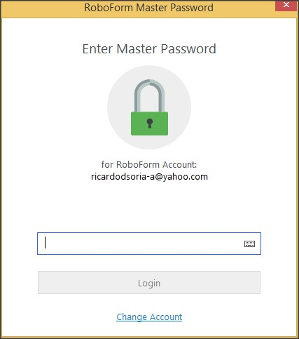 Master Password Request