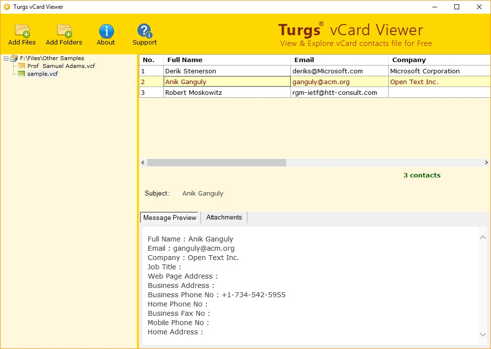 Turgs vCard Viewer 2 0 Download (Free) - VCARDVIEWER exe