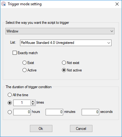 Configuring Trigger Mode Settings