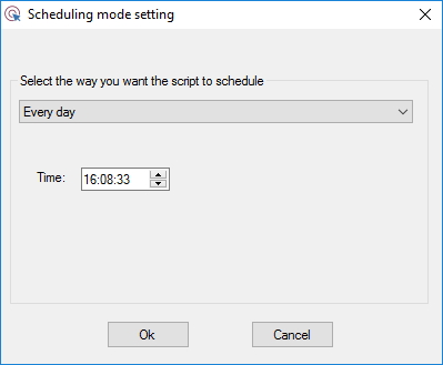 Configuring Scheduling Mode Settings
