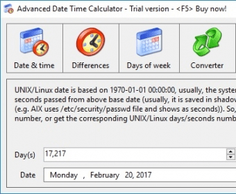 Advanced Date Time Calculator Download - Calculate time and
