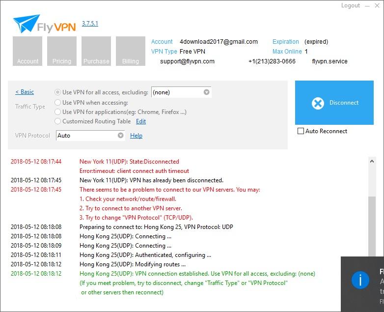 FlyVPN 3 6 Download (Free trial) - FlyVPN exe