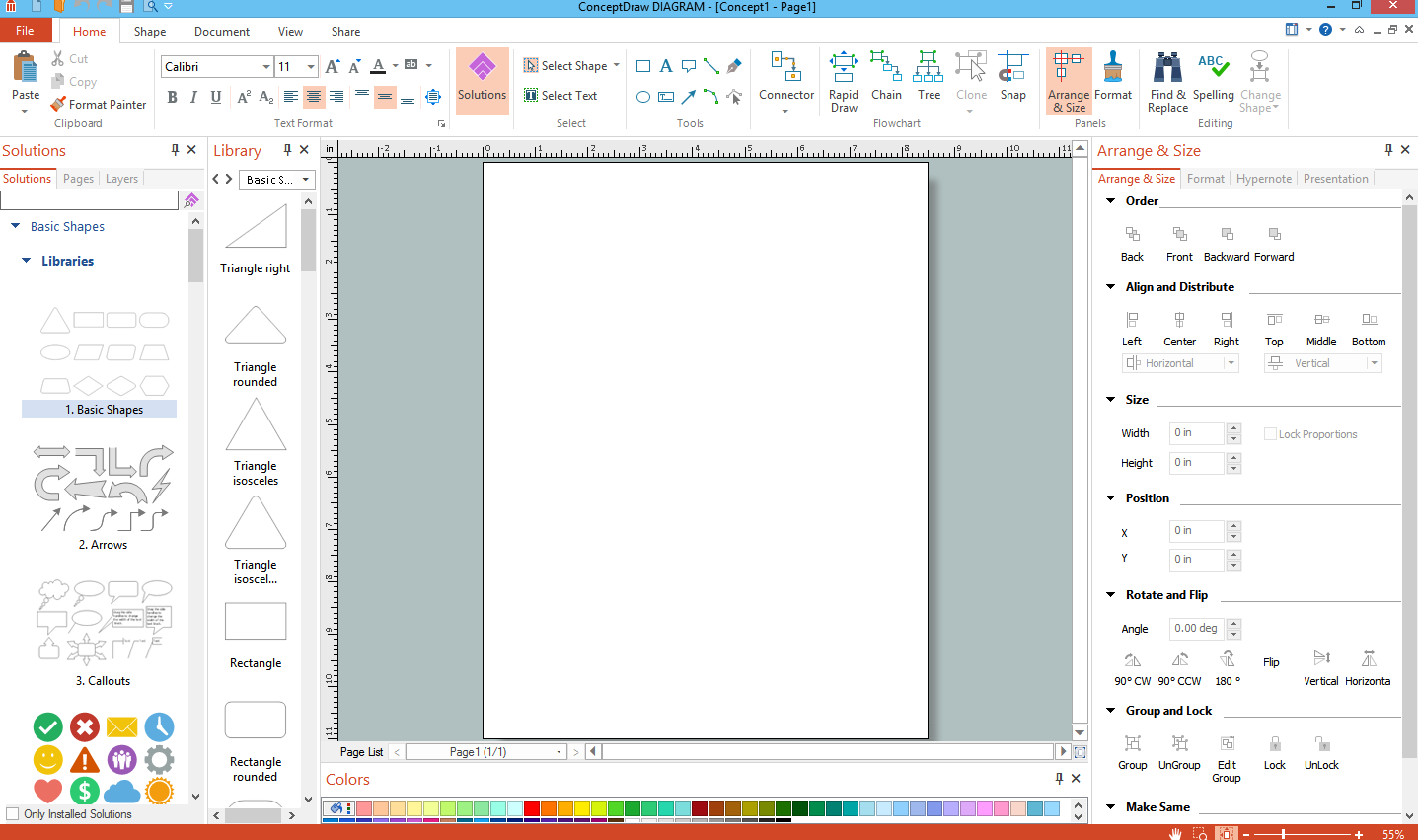 ConceptDraw Diagram main interface
