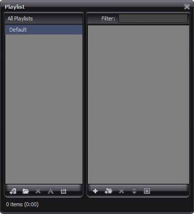 Playlist Window