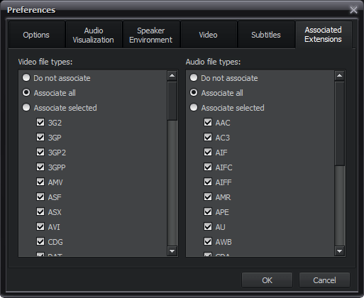 Supported Formats