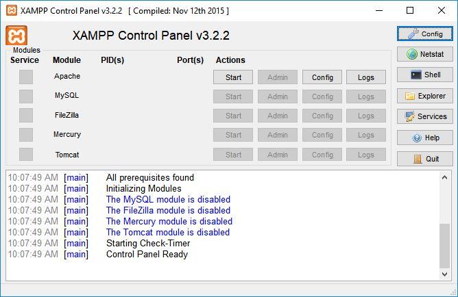 XAMPP 1.7.7 GRATUIT TÉLÉCHARGER