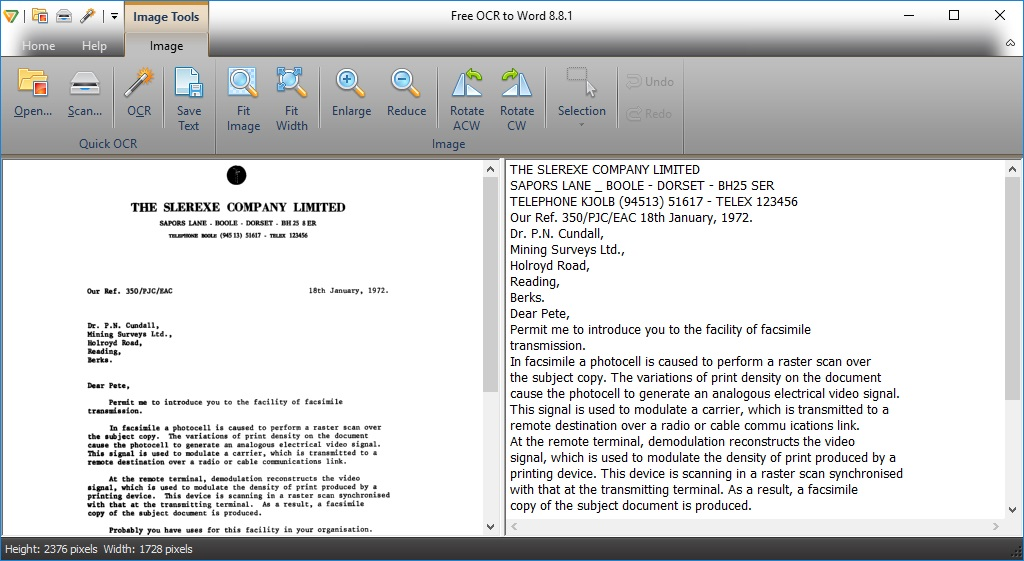Free OCR to Word 7 8 Download (Free) - FreeOCRtoWord exe