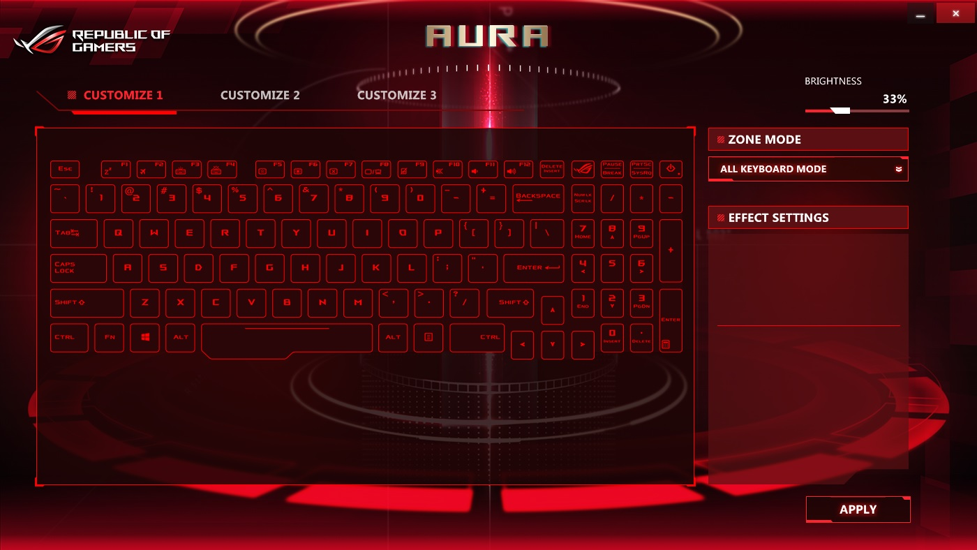 ROG Aura Core - Software Informer  Customize the RBG keyboard